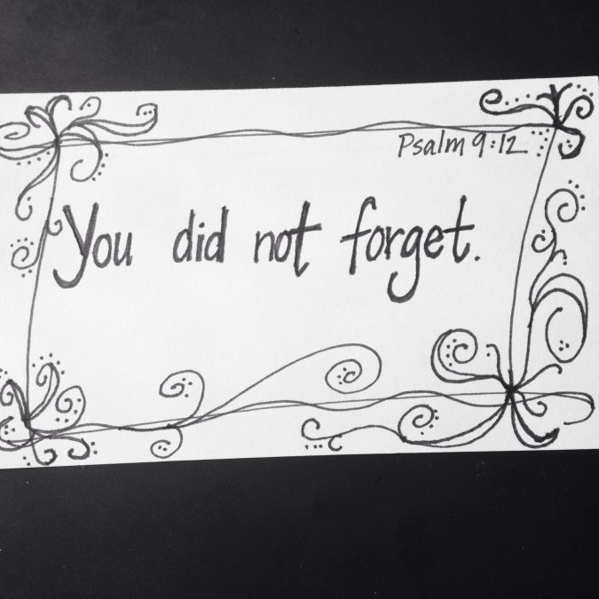 """You Did Not Forget."""