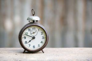 Vintage Metal Analog Alarm Clock