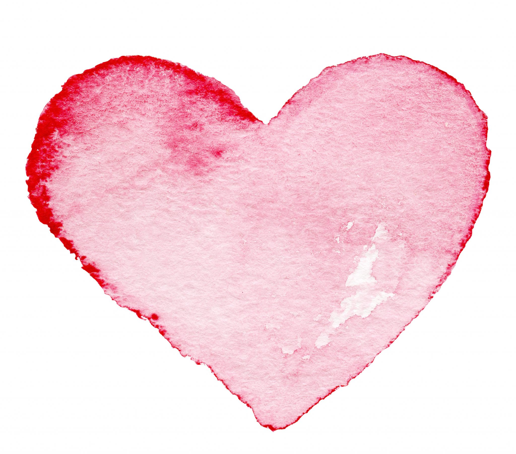 watercolor painted red heart symbol for your design heart