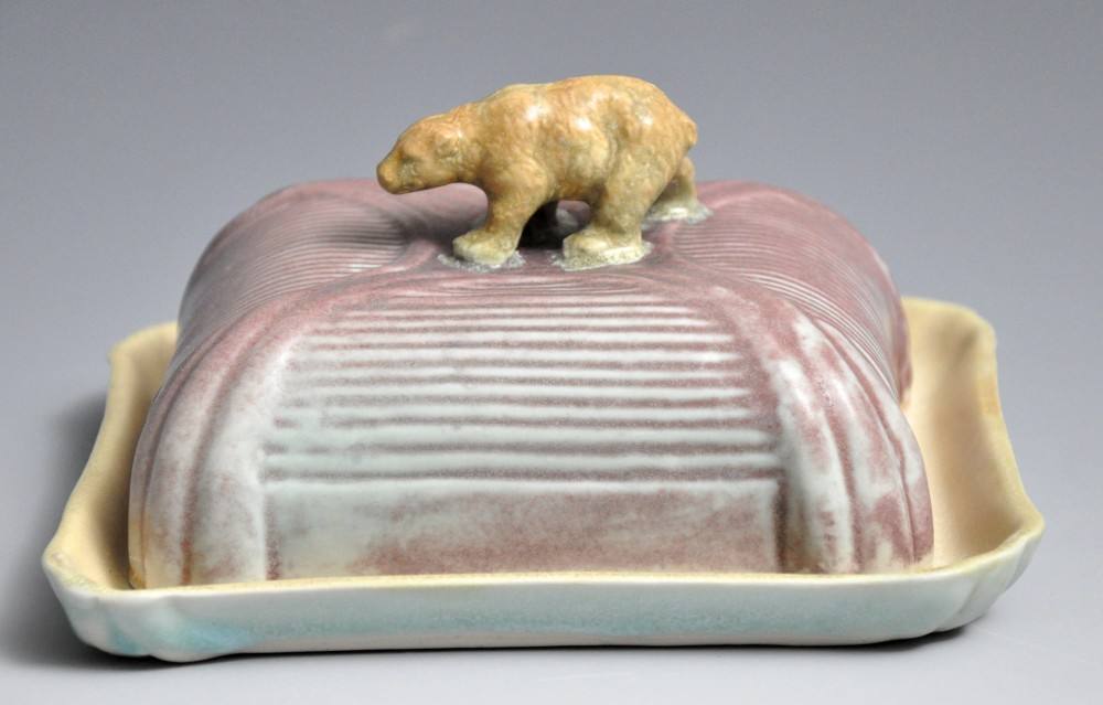 Pastel Bear Butter Dish | Tricia Ree McGuigan