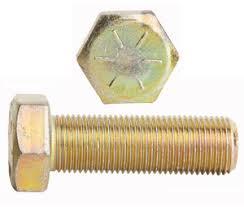 Grade 8 Yellow Zinc Fine Thread