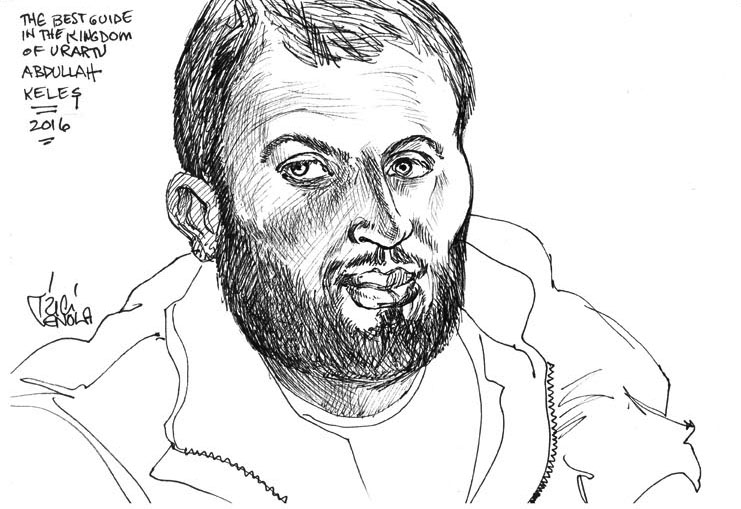 Drawing of Trici's guide, Abdullah