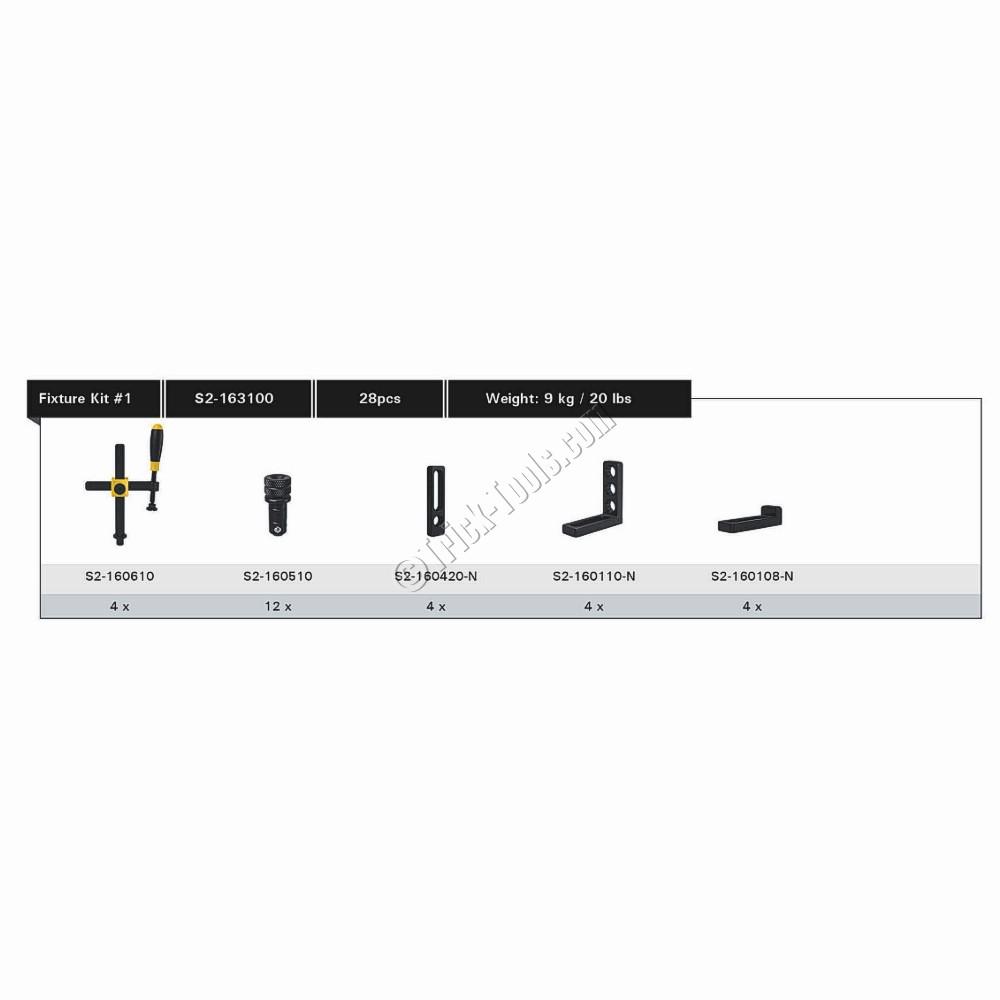 S2-163100, Siegmund System 16 Fixturing Kit, 28 Piece