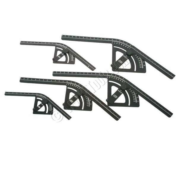 2100 Mittler Bros Complete Bend Protractor Set