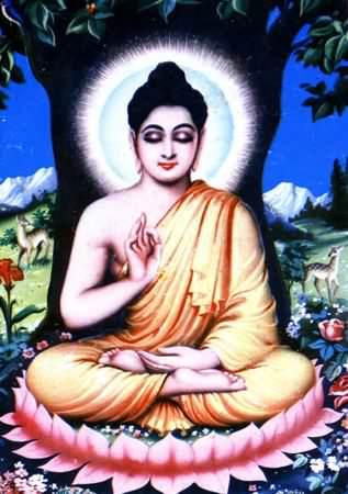 Buddha sun halo