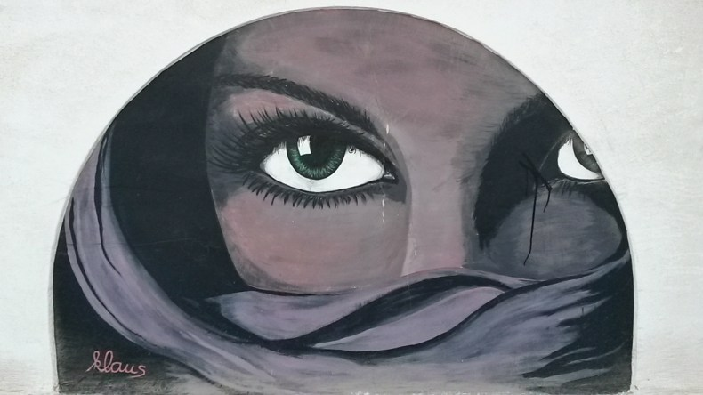 Woman eyes - Street art in Dahab