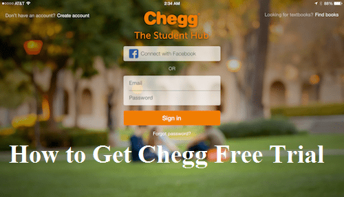 how to cancel chegg free trial