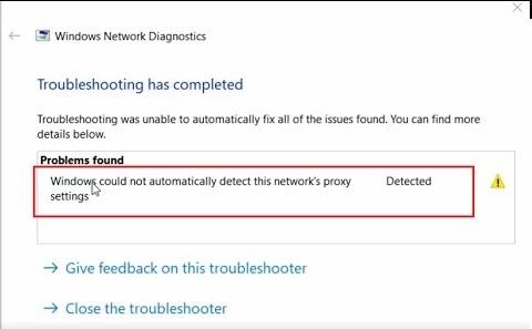 windows proxy error