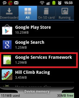 Unfortunately Google Play Services Has Stopped google services framework trick