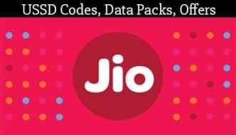 Jio USSD Codes: 4G Data Plans, Talktime Offers