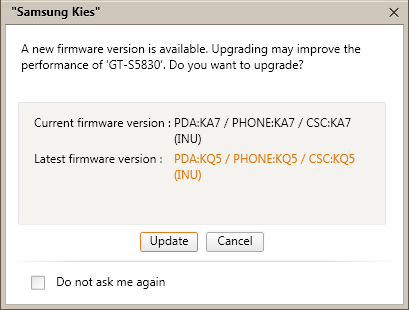 Firmware Update Available