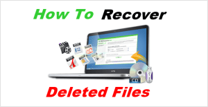 How to recover deleted files from PC Laptop