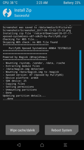 xposed installed for android 7.0