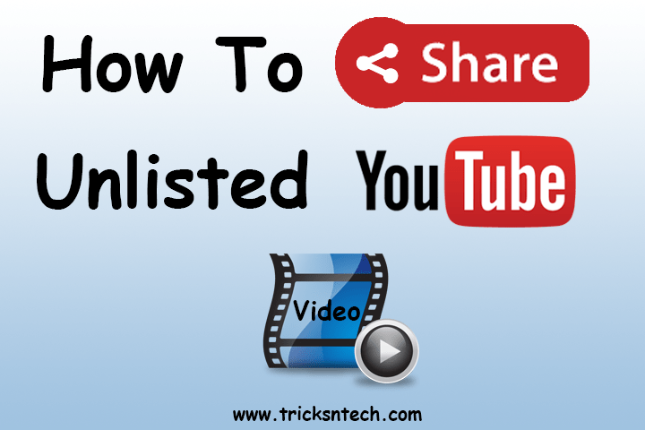 How to share unlisted youtube video