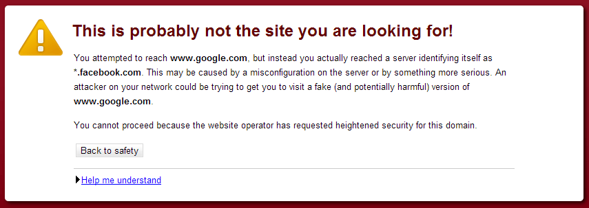 This is probably not the site you are looking for! ssl problem