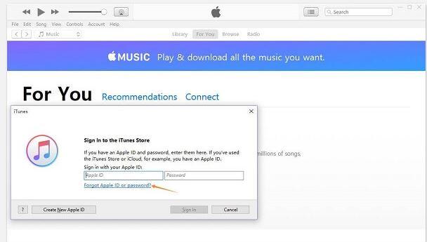 Forgot Apple ID or Password