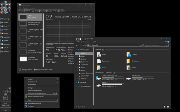 dark grey windows 10 themes