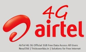 Airtel Free 3GB 3G 4G Data+Unlimited Voice Calling