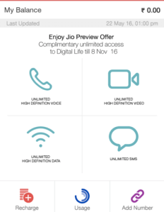 Activate Jio Unlimited Preview offer