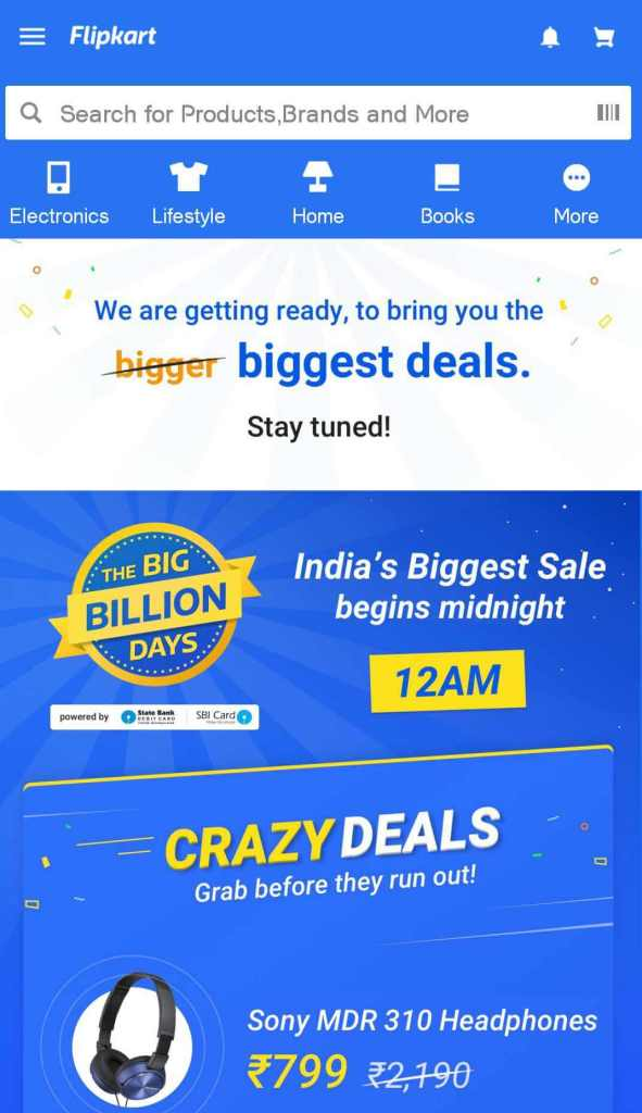Flipkart Big Shopping Days Tricks