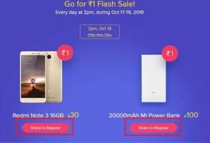 Buy Xiaomi Mi Diwali Flash Sale