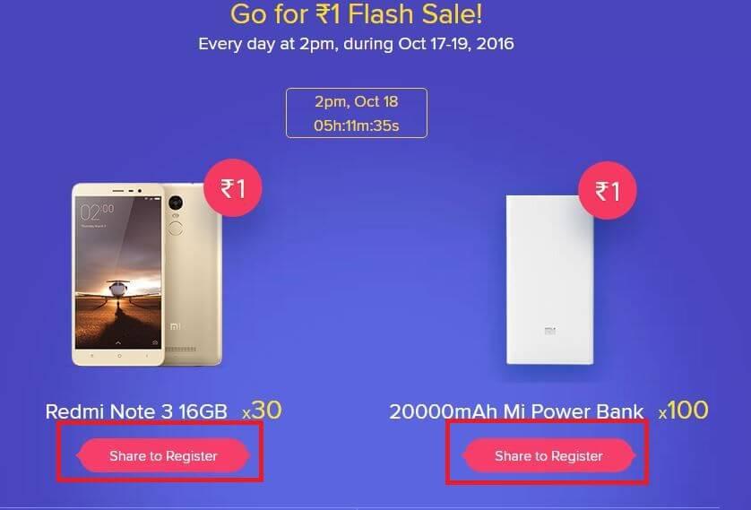 Buy Xiaomi Mi Diwali Flash Sale