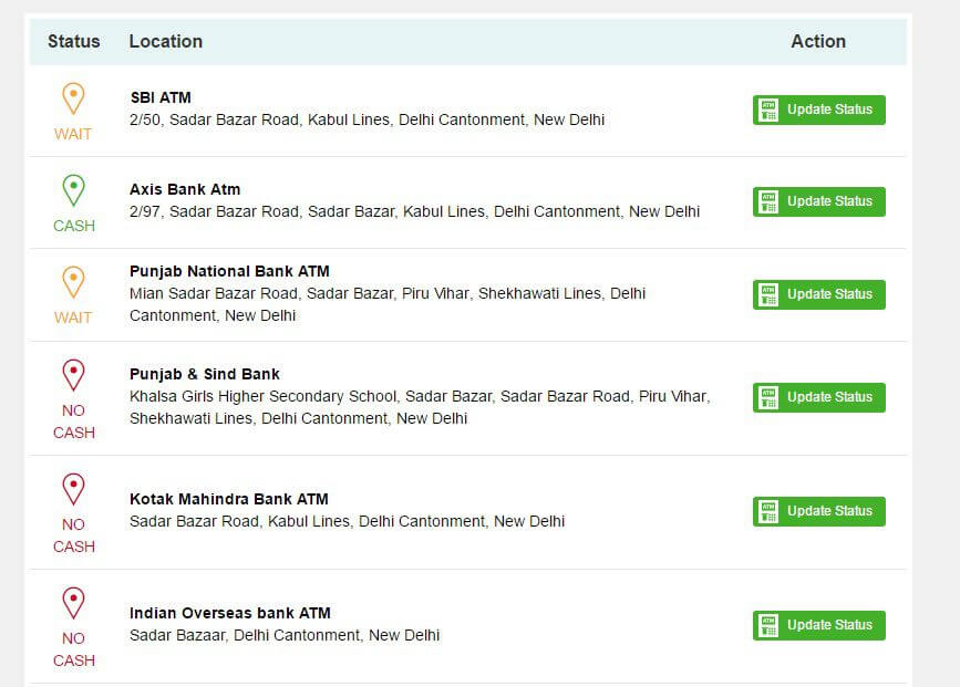 Find Nearest ATM with Cash Real Time Updates