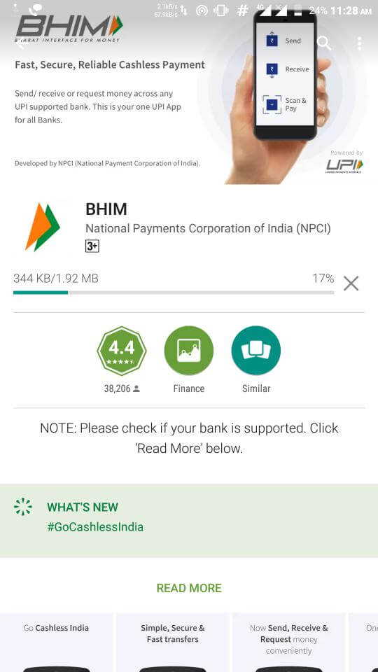 how to use bhim app without internet