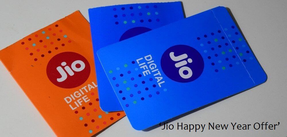 Reliance-Jio Happy New Year Offer Sim cards