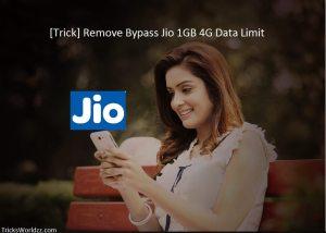 Trick Remove Bypass Jio 1GB 4G Data Limit