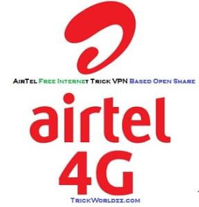 AirTel Free Internet Trick VPN Based Open Share