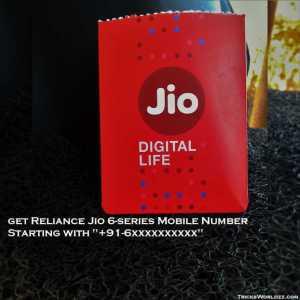 "Now Get Reliance Jio 6-Series Mobile Number Starting With ""+91-6xxxxxxxxxx"""