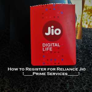 How to Register Reliance Jio Prime Services