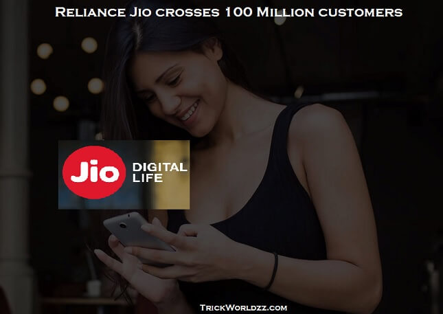 Reliance Jio crosses 100 Million customers