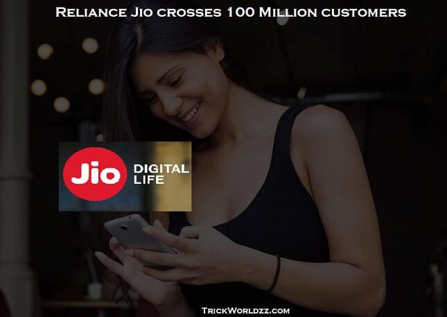 Reliance Jio crosses 100 Million customers