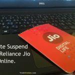 How to Deactivate Suspend Resume Reliance Jio 4G Sim Online