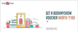 Freecharge with Rs. 50 and Get Rs 100 BookMyShow Coupon