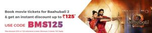 BookMyShow Coupon Get Rs 125 Instant Discount