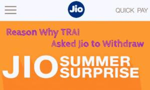 Reason why TRAI Asked Reliance Jio Withdraw Summer Surprise Offer