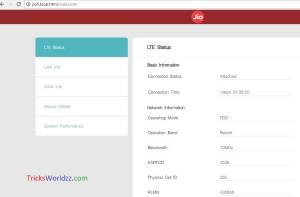 Reliance JioFi Hotspot unlocks User Interface