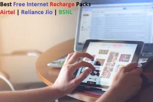 Best Free Internet Recharge Packs Airtel Reliance Jio BSNL