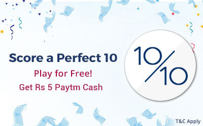 Get Free PayTm Cash Power Play Quiz Answers