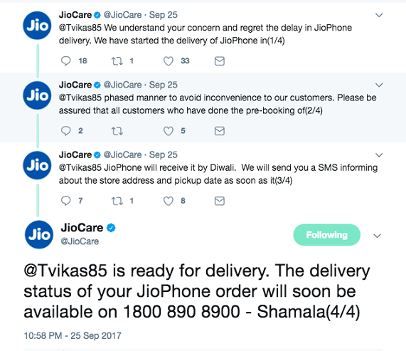 Grab JioPhone by Diwali Official Confirmation form Reliance Jio