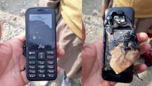 Whoops! Reliance JioPhone Exploded While Charging
