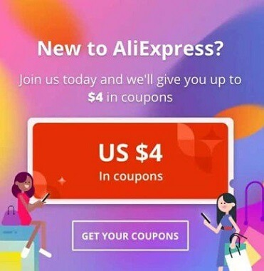 Install Aliexpress App and Get 4$ Off Coupon