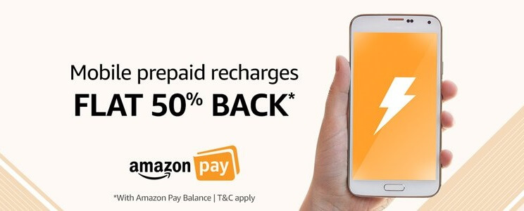 Prepaid Mobile Recharge via Amazon Pay Balance All Users
