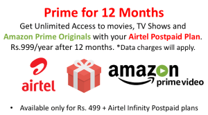 Airtel Offering Free Amazon Prime Video Subscription