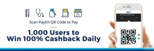 Scan PayTM QR Code & Win Cashback Daily