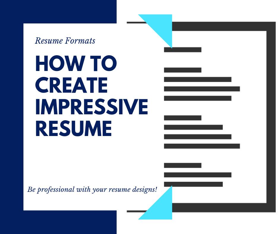 How to make Impressive Resume and Create Job Ready Resume