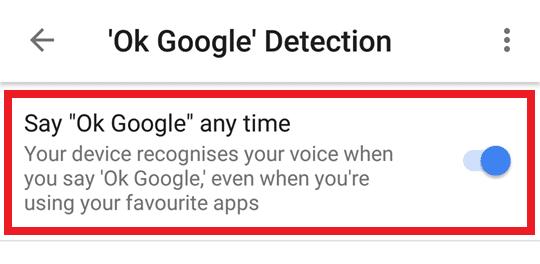 Turn Off OK Google